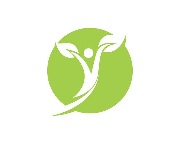 gente, vida sana, logotipo, plantilla, vector, icono vector
