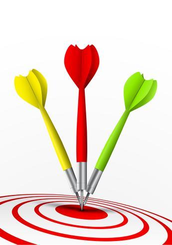 kleurrijke pijltjes die een doel raken vector
