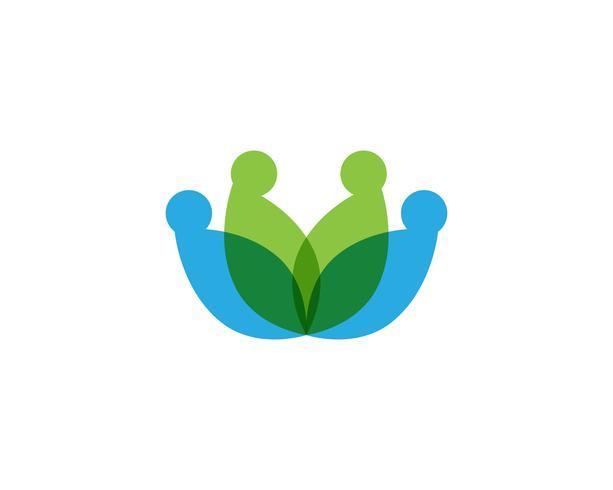 Ícone de modelo de vetor de logotipo e símbolos de flor de lótus