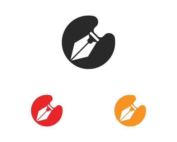 stylo écrire signe logo modèle app icône vecteur