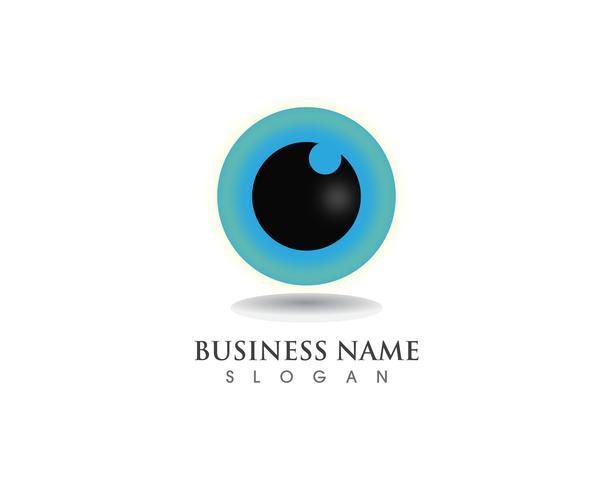 Gesundheitssymbole des Augenpflege-Logos