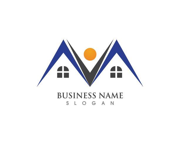 Plantilla de iconos de logotipo y símbolos de edificios