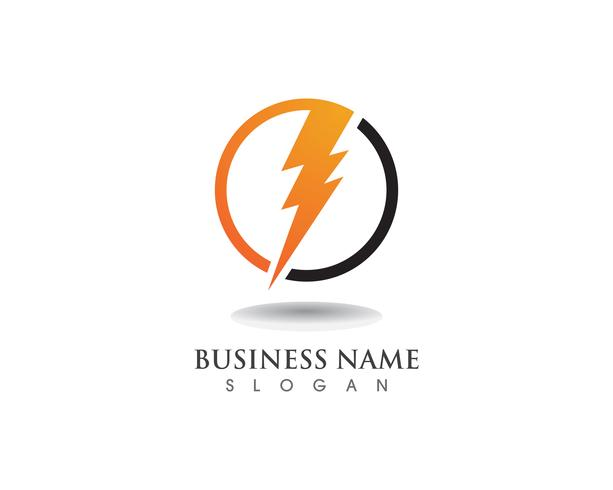 Rayo rayo electricidad vector logo diseño