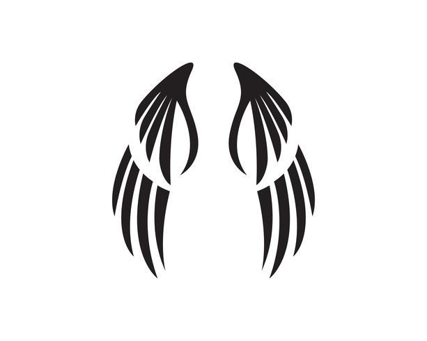 Eagle wing falcon logo and symbols template vector