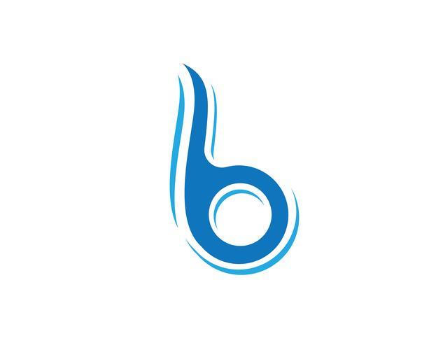 B Brief pictogram ontwerp vectorillustratie. vector
