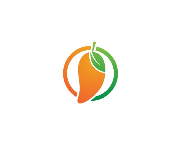 Mango fruit vector logo symbool