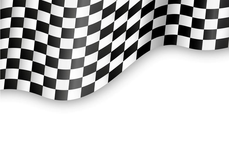fundo de bandeira quadriculada vetor