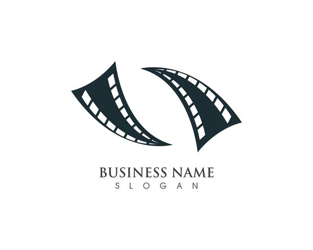 Filmlogotyp och symboler vektormall