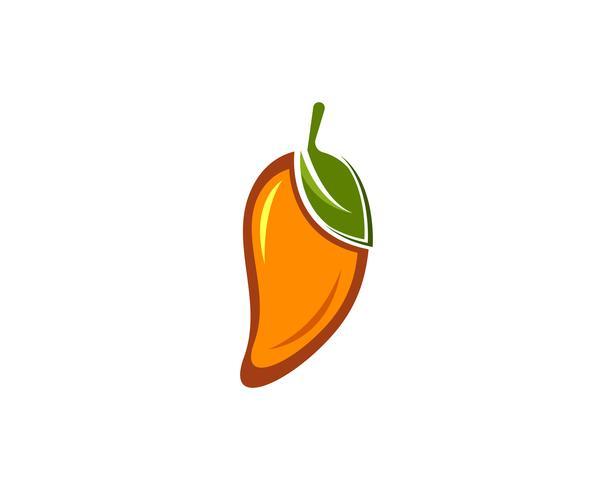 Mango frukter vektor logotyp symbol