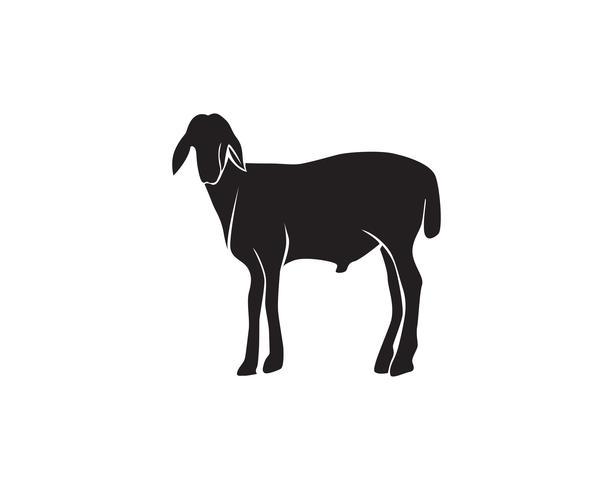 Geit zwart dieren vector logo en symbool