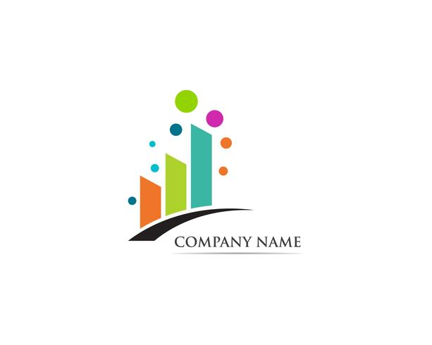 Financiën logo vector sjabloon illustratie