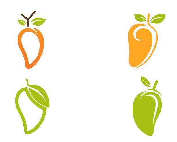 Mangue à plat style mangue logo image de mangue icône image vectorielle