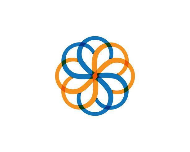 Groene blad bloemen patronen logo en symbolen op een witte achtergrond