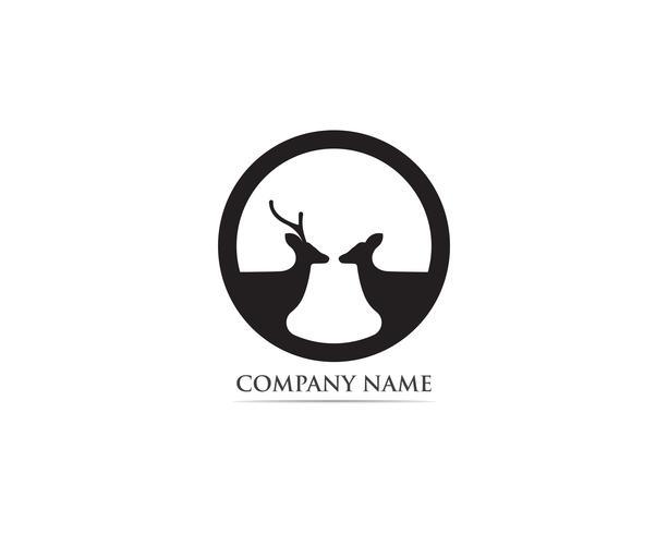 Herten logo en symbool vector