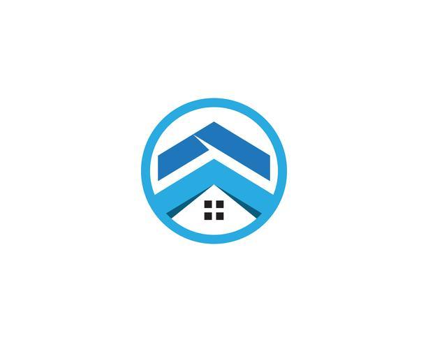 modèle d'icônes logo et symboles maison vecteur