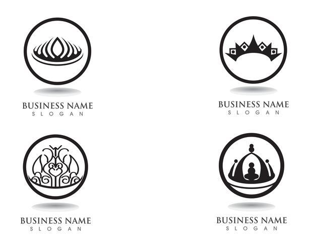 Kroon logo sjabloon vectorillustraties