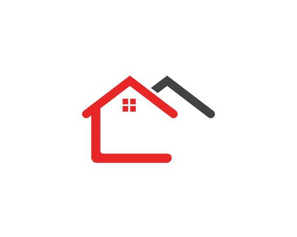 huisgebouwen logo symbolen pictogrammen sjabloon vector