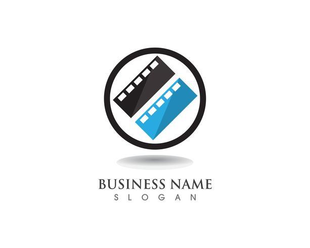 Logo de film et modèle de vecteur de symboles