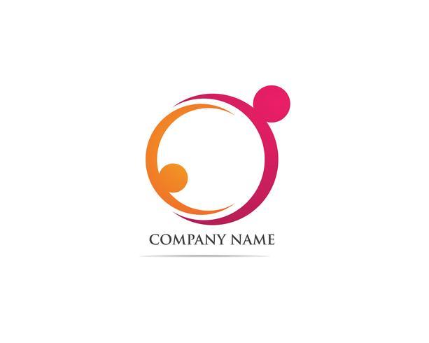 Adoptie gemeenschap zorg Logo sjabloon vector