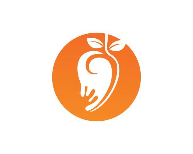 Mango nell'immagine piana di vettore dell'icona del mango di logo del mango di stile