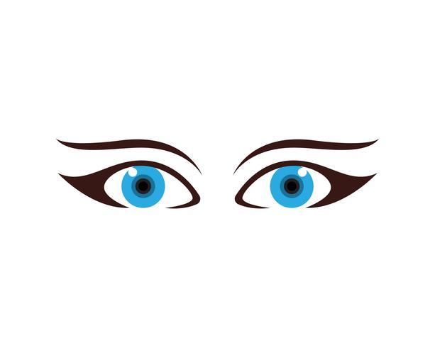 Ojos cuidado salud logotipo y símbolos. vector