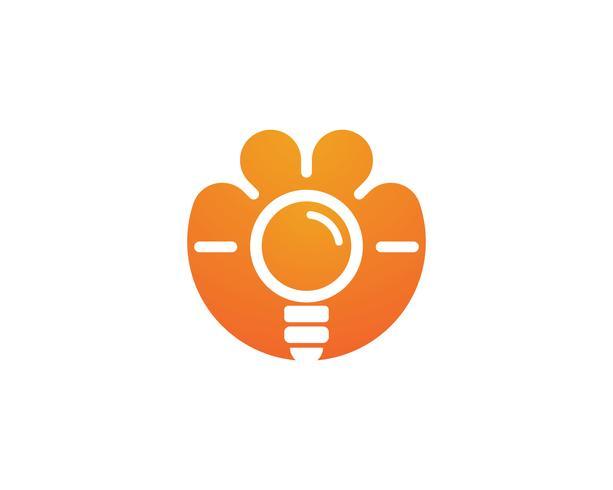 gloeilamp logo vector ilustration sjabloon