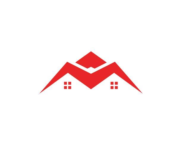 Plantilla de los iconos de los símbolos de inicio de edificios vector
