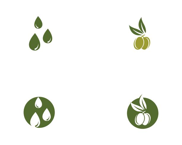 icono de vector de plantilla logo oliva