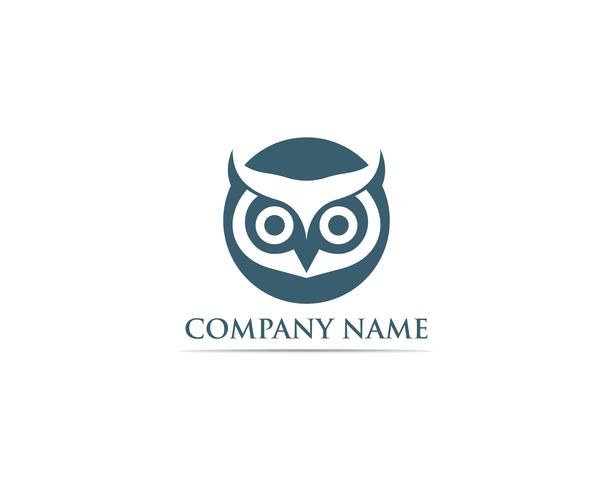 Owl logo bird vector illustrator