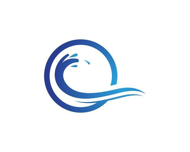 Splash water wave beach logo en symbool vector