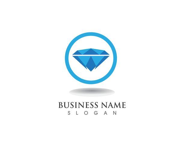 Diamante logo símbolo vector plantilla icono