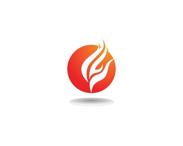 Brand logo sjabloon vector pictogram Olie, gas en energie logo concept