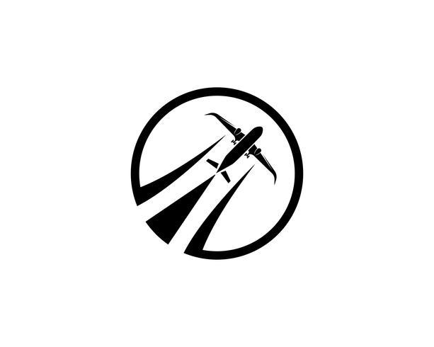 Aviones, avión, aerolínea con etiqueta de logotipo. Viaje, viaje en avión, símbolo de avión. Ilustración vectorial vector