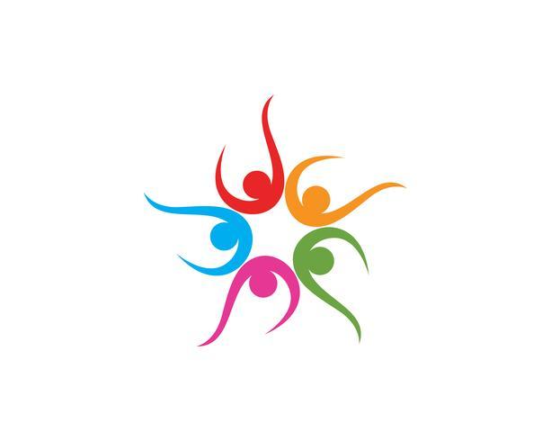 La stella della squadra e del logo della gente della squadra della comunità del gruppo