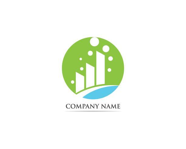 Illustration de modèle finance logo vector