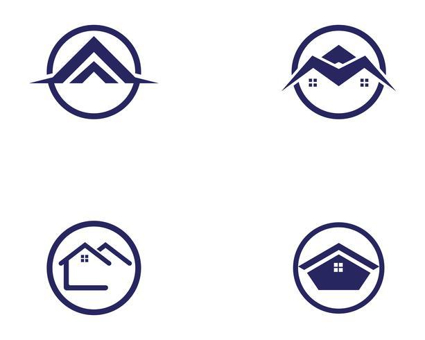 modèle d'icônes maison bâtiments logo symboles vecteur