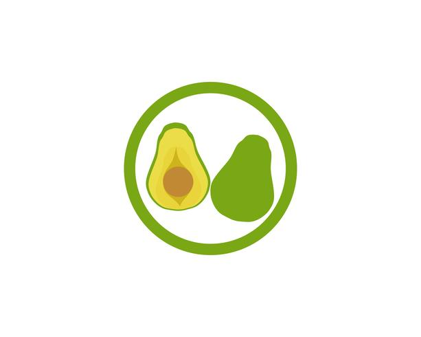 avocado vektor mall logotyp