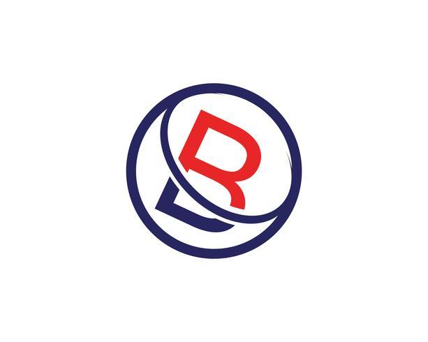 Ejemplo del vector del diseño del icono de la letra de B