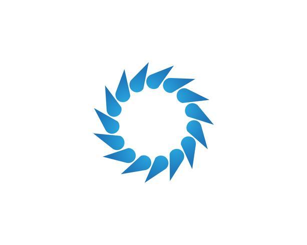 Plantilla de logo y símbolos vórtice vector