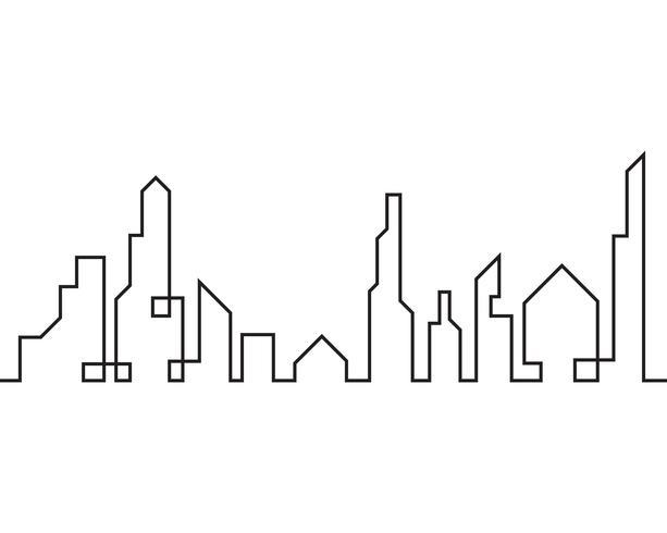 Modern stadssilhouet. vectorillustratie in platte ontwerp vector