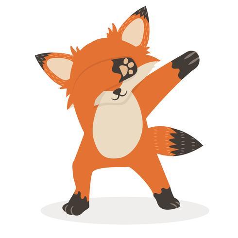 Fox Dub danstecknad tecknad vektor