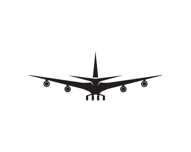 Aeronave, avião, rótulo de logotipo de companhia aérea. Viagem, viagens aéreas, símbolo de avião. Ilustração vetorial