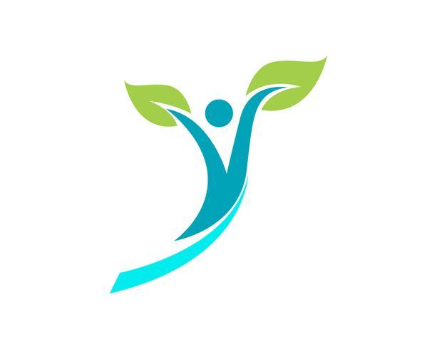 Logo de personnes de santé et symboles succès santé