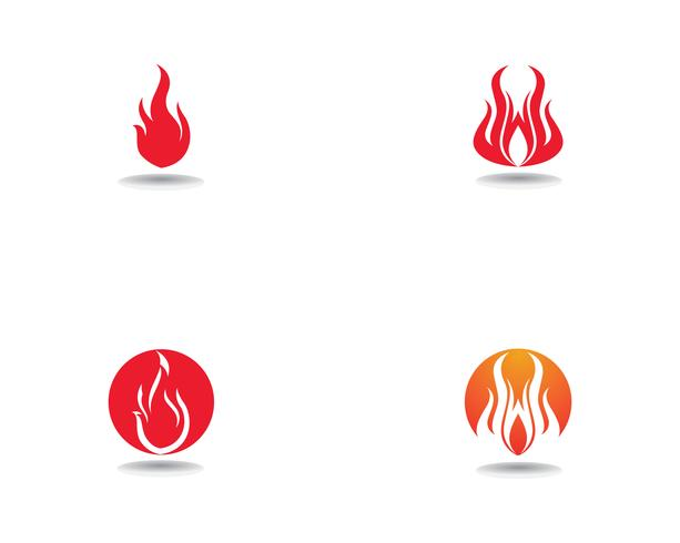 Fire Logo Template vector icon Oil, gas and energy logo concept