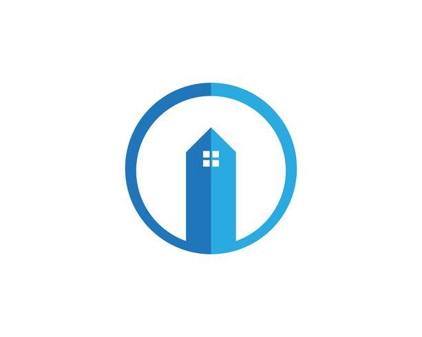 hembyggnader logo symboler ikoner mall