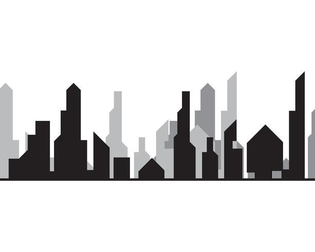 Silhueta da cidade moderna. ilustração vetorial no design plano vetor