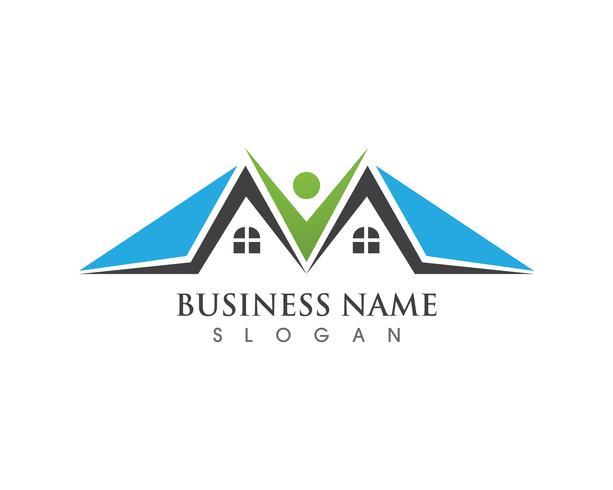 Gebäude Logo und Symbole Symbole Vorlage vektor