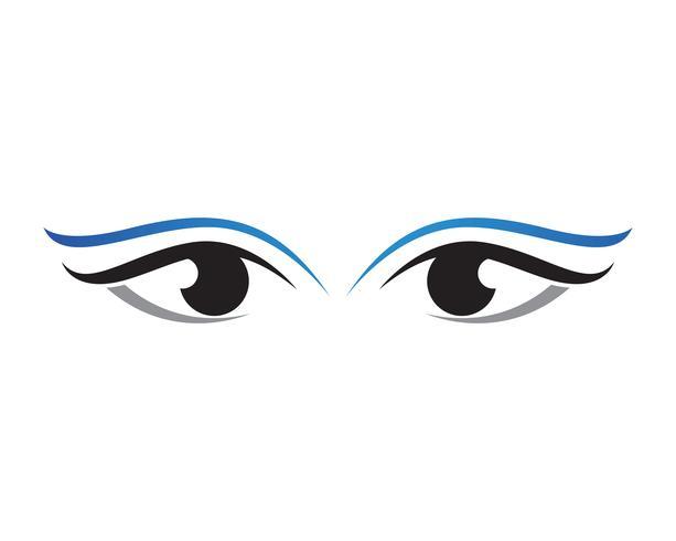 Ogen verzorgen gezondheidslogo en symbolen