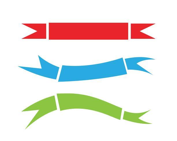 Flache Vektorband-Fahnenebene lokalisiert auf weißem Hintergrund