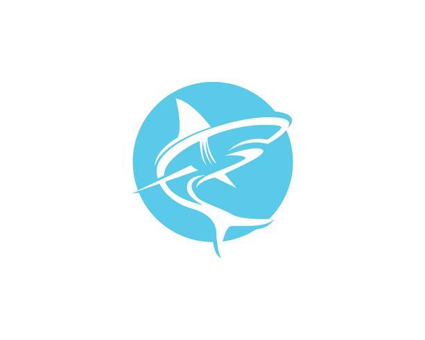 Shark fish animals logo and symbols vector